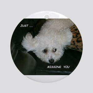JUST MISSING YOU ORNAMENT (ROUND)