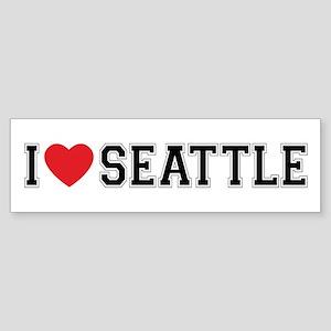 I Love Seattle Bumper Sticker
