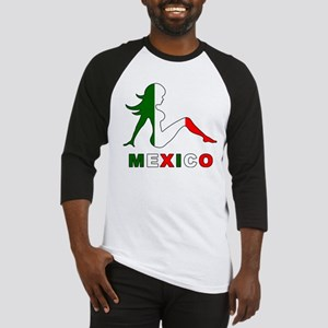 Mexican Mud Flap Girl Baseball Jersey
