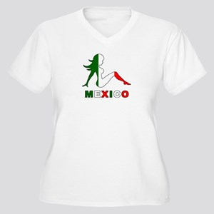 Mexican Mud Flap Girl Women's Plus Size V-Neck T-S