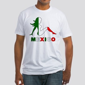 Mexican Mud Flap Girl Fitted T-Shirt