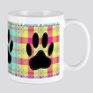 Dog Paw Pattern Quilt Mugs