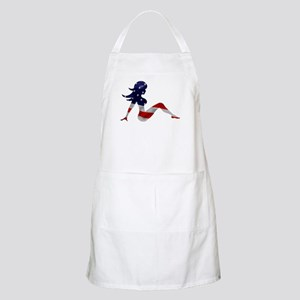 Patriotic Mud Flap Girl BBQ Apron
