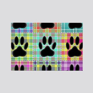 Dog Paw Pattern Quilt Magnets