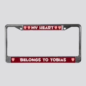 My Heart: Tobias (#007) License Plate Frame