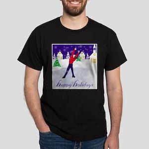 Holiday Figure Skating Ash Grey T-Shirt