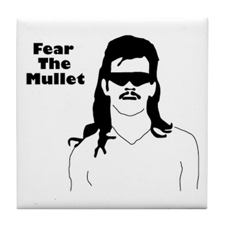 Fear the Mullet Tile Coaster