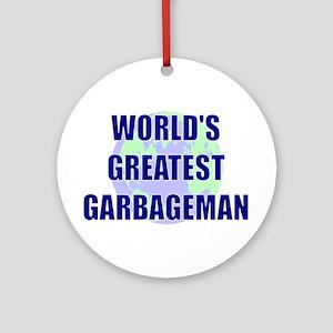 World's Greatest Garbageman Ornament (Round)