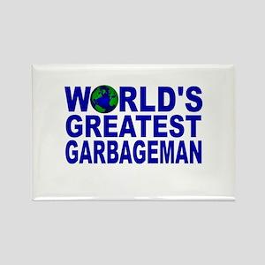 World's Greatest Garbageman Rectangle Magnet