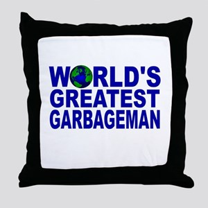 World's Greatest Garbageman Throw Pillow