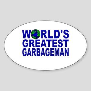 World's Greatest Garbageman Oval Sticker