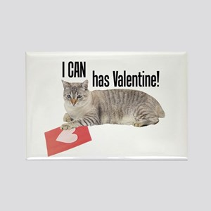 I CAN Has Valentine! Lolcat Rectangle Magnet