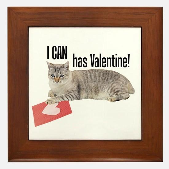 I CAN Has Valentine! Lolcat Framed Tile