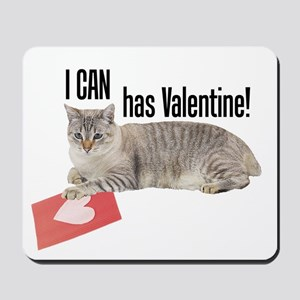 I CAN Has Valentine! Lolcat Mousepad