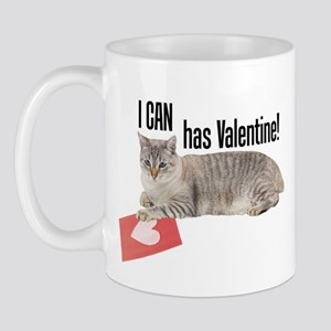 I CAN Has Valentine! Lolcat Mug