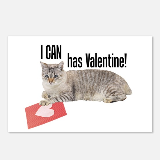 I CAN Has Valentine! Lolcat Postcards (Package of