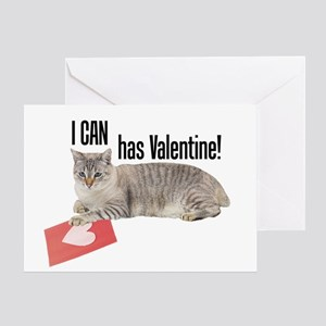 I CAN Has Valentine! Lolcat Greeting Card