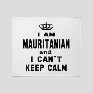 I am Mauritanian and I can't keep ca Throw Blanket