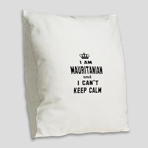 I am Mauritanian and I can't k Burlap Throw Pillow