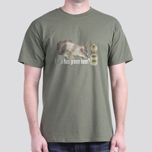 I Can Has Green Beer? Lolcat Dark T-Shirt