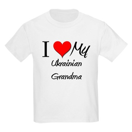 I Heart My Ukrainian Grandma Kids Light T-Shirt