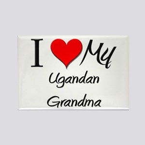 I Heart My Ugandan Grandma Rectangle Magnet