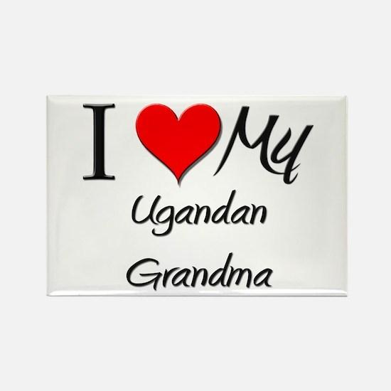 I Heart My Ugandan Grandma Rectangle Magnet