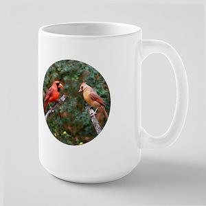 Two Cardinals Large Mug