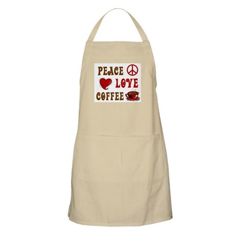 Peace Love Coffee 1 BBQ Apron