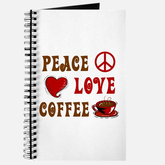 Peace Love Coffee 1 Journal