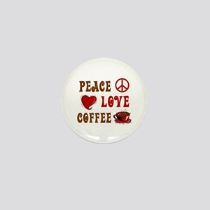 Peace Love Coffee 1 Mini Button
