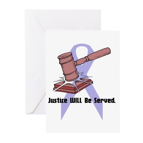 Domestic Violence Justice Greeting Cards (Package