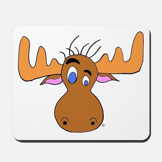 Cartoon Moose Antlers Mousepad