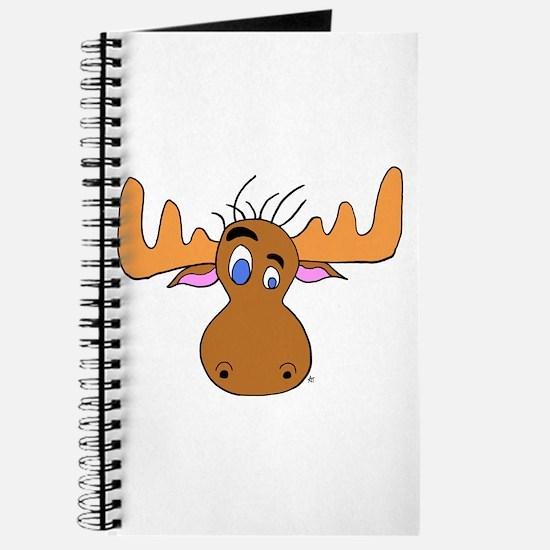 Cartoon Moose Antlers Journal