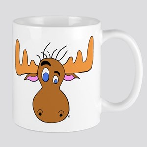 Cartoon Moose Antlers Mug