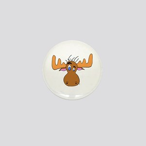Cartoon Moose Antlers Mini Button