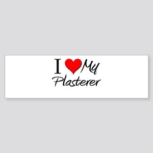 I Heart My Plasterer Bumper Sticker