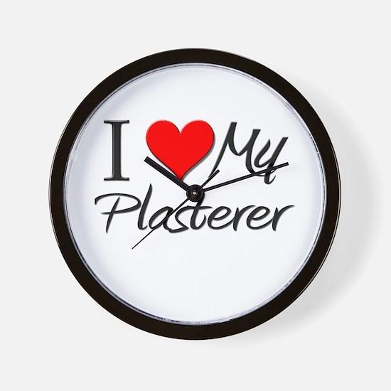 I Heart My Plasterer Wall Clock