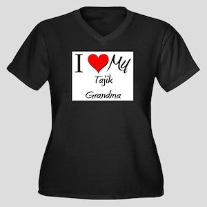 I Heart My Tajik Grandma Women's Plus Size V-Neck