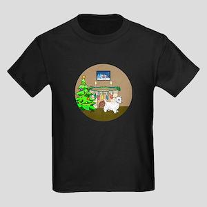 A Westie Christmas Kids Dark T-Shirt