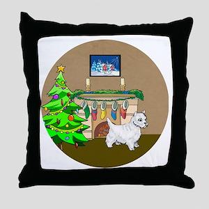 A Westie Christmas Throw Pillow