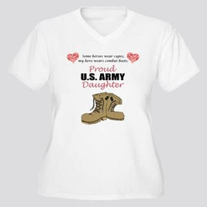 Proud US Army Daughter Women's Plus Size V-Neck T-