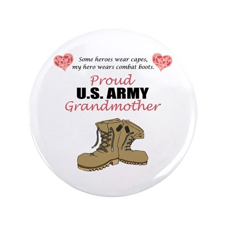 """Proud US Army Grandmother 3.5"""" Button"""