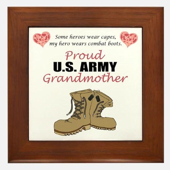 Proud US Army Grandmother Framed Tile