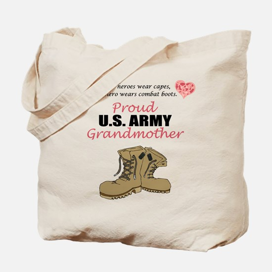 Proud US Army Grandmother Tote Bag
