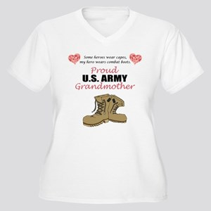 Proud US Army Grandmother Women's Plus Size V-Neck