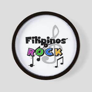 Filipinos Rock Wall Clock