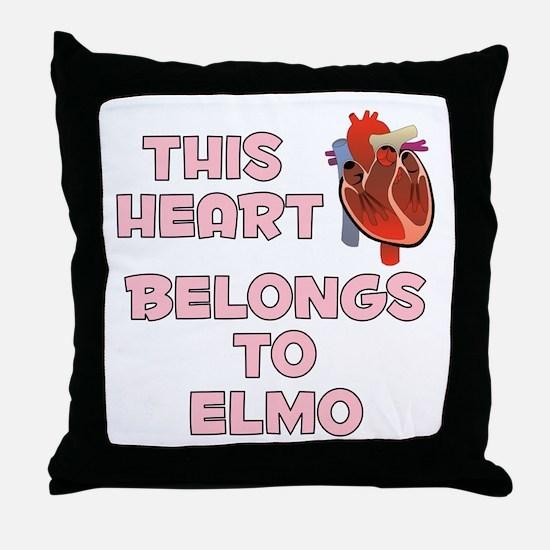 This Heart: Elmo (C) Throw Pillow