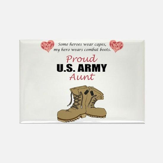 Proud US Army Aunt Rectangle Magnet