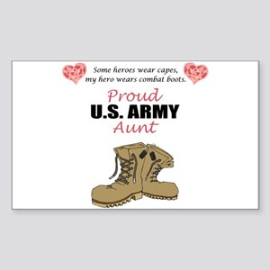 Proud US Army Aunt Rectangle Sticker